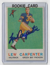 1959 PACKERS Lew Carpenter signed ROOKIE card Topps #95 Autographed RC AUTO