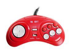 SEGA Genesis Mega Drive gamepad controller - NEW 3rd party OEM, color RED 6 btn