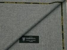 DORMEUIL, FLANNEL, LIGHT GREY WOOL SUITING FABRIC 3.5M - MADE IN ENGLAND