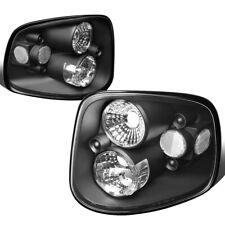 Fit 97-04 Ford F150 Heritage Flareside Black Housing Tail Light Rear Brake Lamps