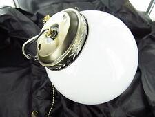#15 - Used Universal Round Globe Ceiling Fan Light Kit - 1 Light/Parts