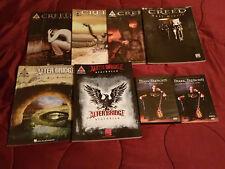 6 Creed Alter Bridge Tab Books 1 Tremonti DVD Blackbird Human Clay Weathered