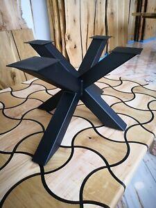 Couchtisch-Gestell Tischuntergestell Industriedesign 3D-Kreuzgestell 80×50x35cm