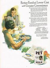 1920's BIG Old Vintage Pet Milk Co. Kitchen Decor Andrew Loomis Art Print Ad