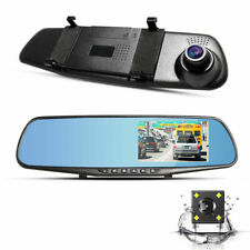 4.3'' HD Dual Lens Car DVR Dash Cam Front and Rear Mirror Camera Video Recorder