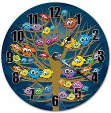 "10.5"" CUTE COLORFUL BIRDS - FLOCK OF BIRDS CLOCK - Large 10.5"" Wall Clock - 4049"