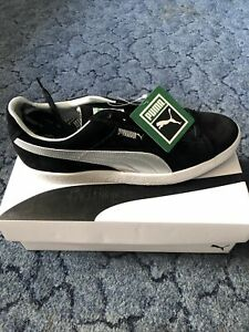 Puma Suede Vtg Mij Black & Silver UK 10 - (New With Box)