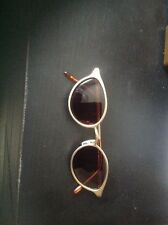 pre-owned isaac mizrahi cuddles brushed gold ladies sunglasses