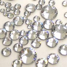 1000 Crystal Clear Silver Flat Back Acrylic Resin Rhinestones Gems 3,4,5 &6mmUSA