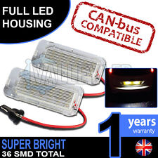 Fiesta Mk7 ST 08-on Complete LED Number Plate Housings Canbus Super Bright