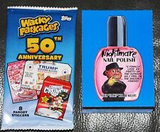 2017 WACKY PACKAGES 50TH ANNIVERSARY COMPLETE BLUE SET 90 CARDS GARBAGE PAIL KID