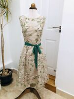 PHASE EIGHT Floral Pin Up Embroidered Tulle Skirt Prom Occassion Dress Size 10