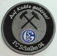 Aufnäher / Aufbügler + FC Schalke 04 + Auf Kohle geboren + Kumpel Lizenzware #21