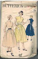 5236 Vintage Butterick SEWING Pattern Misses Teen Full Skirted Dress OOP 1950's