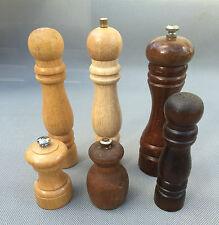 Lot de 6 moulins à poivre art de la table vintage french antique