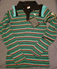 Diesel Wheels Of Fire Multi Color Striped L/S Cotton Polo Shirt Size XL
