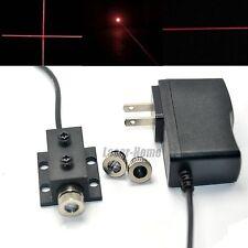 650nm 50mw Red Dot Line Cross Laser diode Module Focusable w/ Adapter & Heatsink
