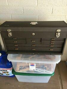 Vintage Kennedy 526 8-Drawer Machinist Toolbox Tool Box Chest Machine w/ Keys