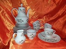 Ilmenau Graf von Henneberg Porzellan Kaffeeservice Kaffeegedeck Blumen 22 Teile