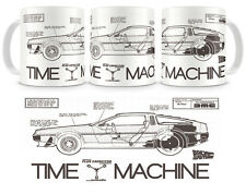 Back to The Future Time Machine Keramik Tasse / Kaffeebecher/ MUG Neu in OVP