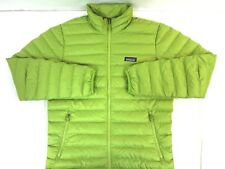 NWT PATAGONIA Men's Neon Green Down Zip Front Jacket Medium