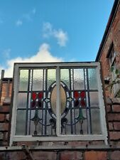 More details for antique stained glass sash window.