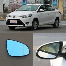 Rearview Mirror Blue Glasses LED Turn Signal with Power Heating For Toyota Vios