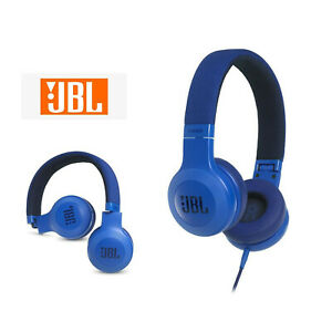 JBL E35 Wired On- Ear Headphones Headset with mic JBLE35BLU (Blue) - AU Stock