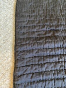 Pottery Barn Standard Pillowcase Silk Blend Brown Quilted Sham Two Tone