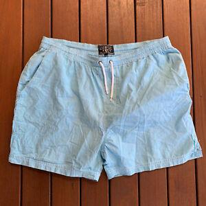 Stone & Mason Size 38 Board Shorts Blue White Stripe Thin Casual Swim Mens