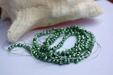 BR50Geen1 5-6mm Cultured pearls Cord Freshwater Jewellery Necklace baroque