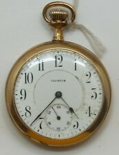 Illinois 16 Size Open Face 17 Jewel 1912 Pocket Watch Running LW168