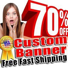 8x10 Custom Banner, Full color printing, 13oz Vinyl banner, Free SHIPPING -AMBD