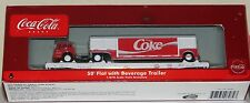 Athearn Coca Cola Flat car with Beverage Truck & Trailer Load --3--New--HO SCALE