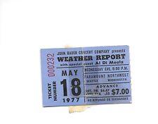 Weather Report Ticket Stub May 18th 1977 Paramount Northwest Seattle Washington