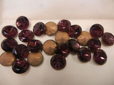 full package,24 Czechoslovakian round glass TTC stones,60ss Amethyst / Foiled