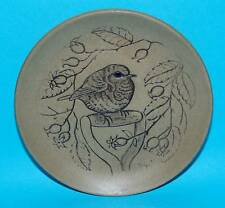 Poole pottery plate  stoneware ' Robin ' bird 1st Quality (6681)