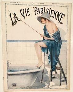 La Vie Parisienne Magazine 1917  Stunning Cover Art  + Print Quality Lithography