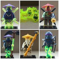 Ninjago Toy Boys Ninja Mini Figures X 5 Master Wu Wrayths fit lego Action Boys