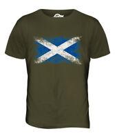 SCOTLAND DISTRESSED FLAG MENS T-SHIRT TOP SCOTTISH SCOTCH SHIRT FOOTBALL GIFT