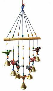 Art Craft Traditional Home Decoration Wall Hanging Bird Wind Chime with Bells
