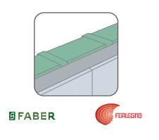 RACCORDO TUBO RETTANGOLARE TR PER CAPPA 1500X220X60MM FABER