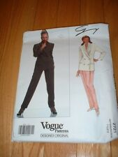 VOGUE PATTERN 2721 ~ GENNY ~ PANTS & DOUBLE-BREASTED JACKET ~ SZ 6-10 ~ NEW