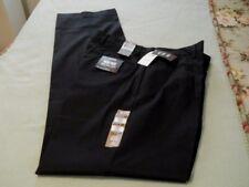 DOCKERS (2 PAIR) BIG & TALL IRON FREE BLACK PLEATED PANTS SIZE 34 X 38- $65-NWT