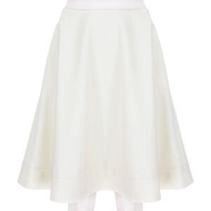 Bouchra Jarrar Ivory Cream Trapeze Skirt FR40 UK12