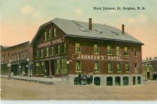 A View Of Johnson's Hotel, St Stephen, New Brunswick NB Canada 1920