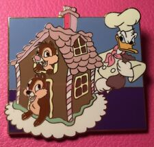 DISNEY PIN - DONALD DUCK Chef CHIP and DALE Gingerbread House Disney Auctions LE