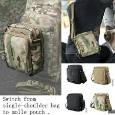 Tactical Single Shoulder Bag Molle Pouch Packet Removable Straps ID Hook & Loop