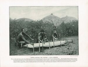 There's Nothing Like Leather A Zulu Industry Africa Antique Print 1897 TQE#155