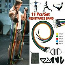 Fitness 11 PCS Resistance Bands Set Home Gym Yoga Exercise Tube Bands Training